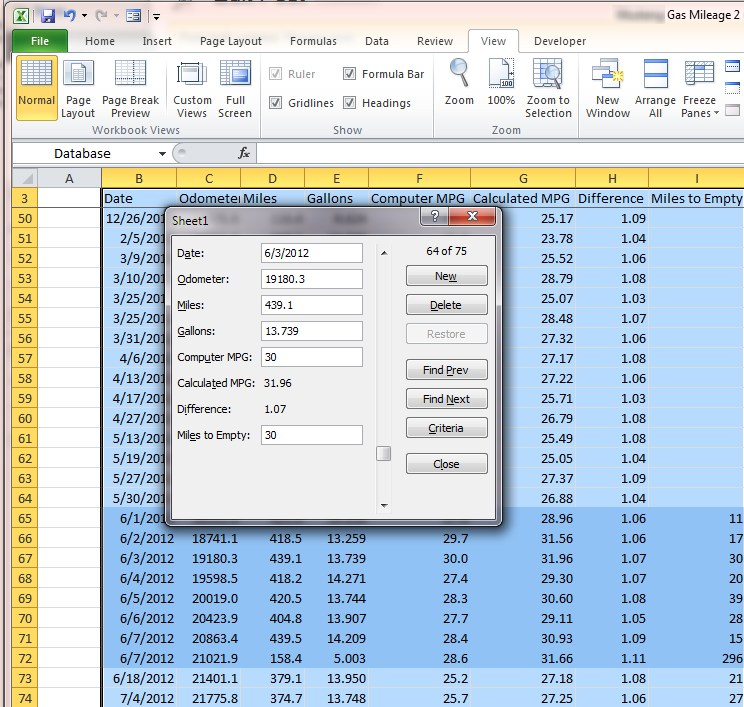 Excel Data Templates