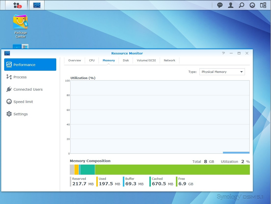 Review of Synology DS415+, How to Add Memory to the DS415+, Web