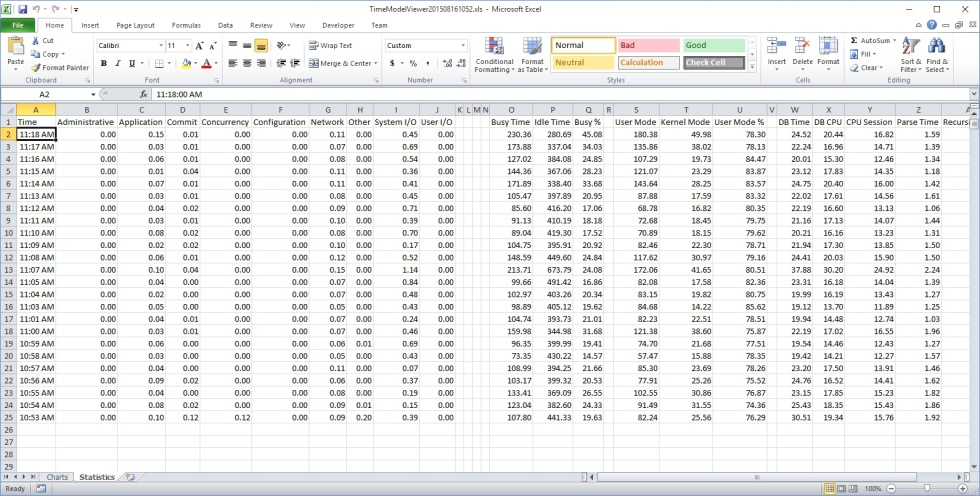 Hyper7TimeModelViewerExcelStatistics