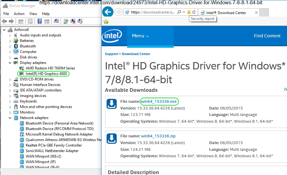 questions display after updating intel graphics driver