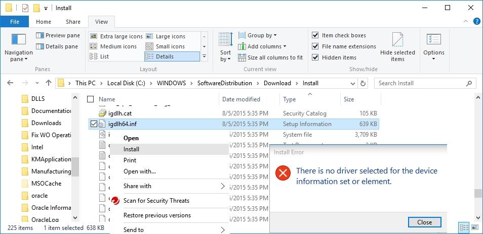 Windows10WindowsUpdateCannotInstallIntelDrivers2